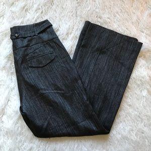 LEIFDOTTIR BLACK SILVER SAILOR WIDE LEG TROUSERS